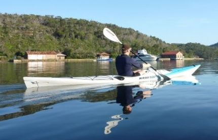 Rich and his kevlar Mirage 530. Nice boat....