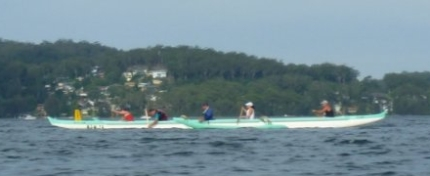 Outrigger going through its paces on Brisbane Waters, Gosford