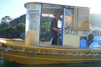 The floating barista on Sydney Harbour - we love him!