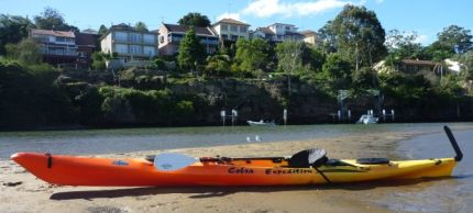 Pitstop - sandbar, middle of Lane Cove River