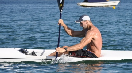 An average ski paddler - NOT a Fat Paddler!