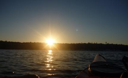 Sunrise over Sydney Harbour - not quite the Pacific Ocean!