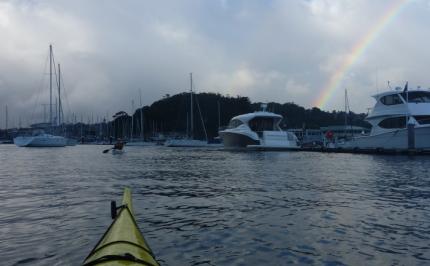 A pre-storm rainbow over Sydney