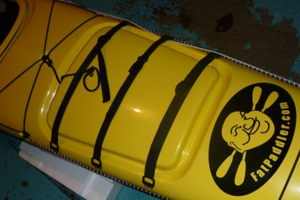 Large Fat Paddler sticker, kayak stern, Boréal Nanook