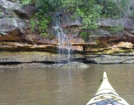 Gentle waterfalls.
