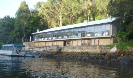 Berowra Waters Inn, accessable only by boat or seaplane