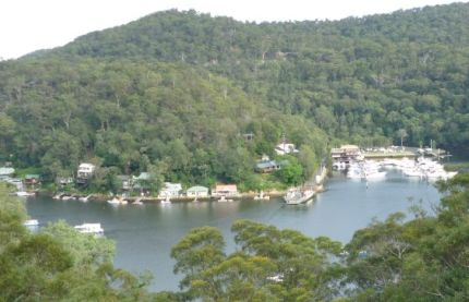 Berwora Waters marina seen from up high