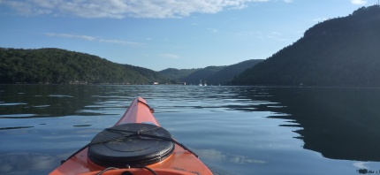 Paddling the glassy waters of Middle Harbour