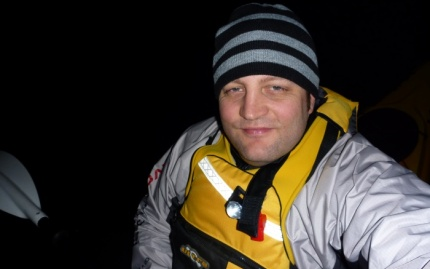Fat Paddler rugged up and on the water by 6am. Still dark!