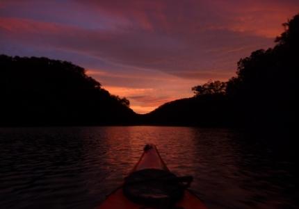 Dawn breaking ovr Berowra... magnificent.