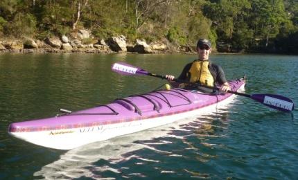 Burnsie on purple charity Boréal Harwhal - injured again!