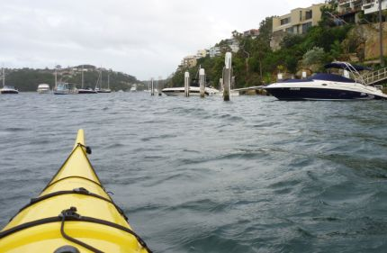 Heading into Middle Harbour with the wind behind me