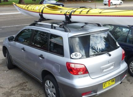 Best place for the kayak today - strapped to the car