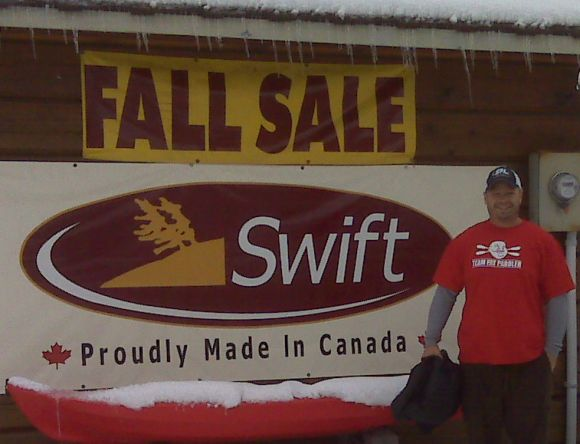 Another cold Fat Paddler! Thanks Mike from Swift Canoe & Kayak, Ontario Canada