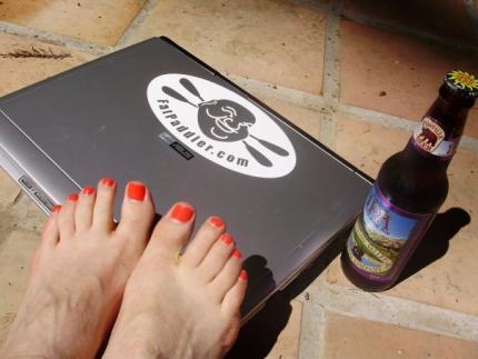 Fat Paddler laptop, Felton California - Judy