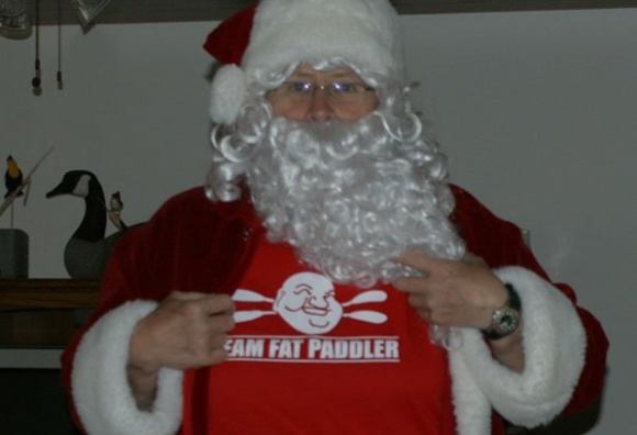 Santa comes clean as a secret member of Team Fat Paddler! @Greenlandpaddle (Ontario, Canada)