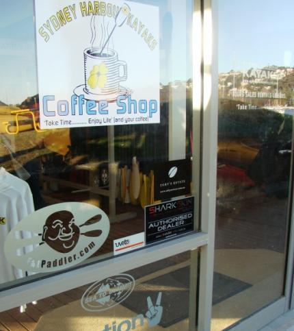 Shopfront window, Sydney Harbour Kayaks - @syd_harb_kayaks