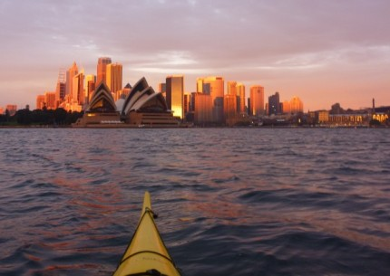 Dawn breaking on the Sydney skyline