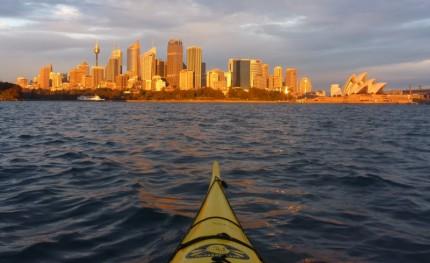 Amber dawn, Sydney skyline