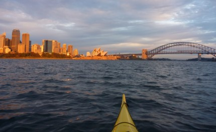 Sunrise over Sydney and the Harbour Bridge