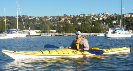 Fat Paddler on his Boréal Nanook - Balmoral Beach, Sydney