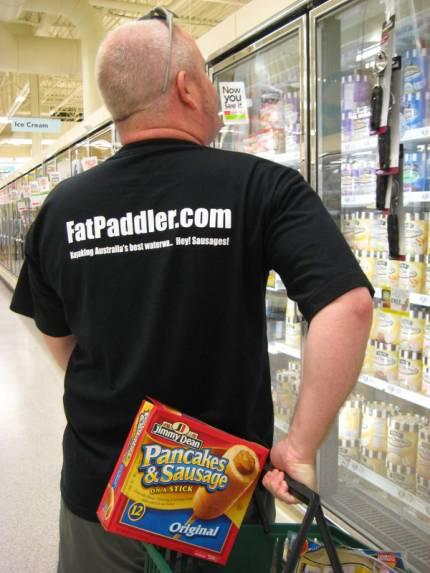 What would a Fat Paddler buy at the store?