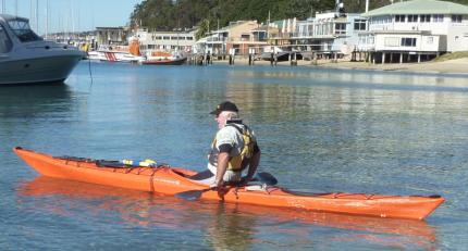 Adrian, sea-kayak instructor at Sydney Harbour Kayaks