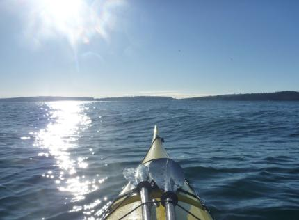 Ocean swell, easier to handle than ferry-wake!