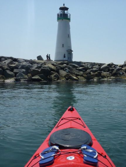 Lighthouse at the end of Santa Cruz Harbour