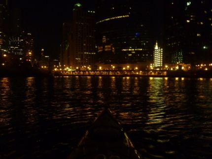 Chi-Town at night from the Chicago River