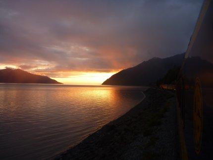 My last Alaskan sunset, Anchorage