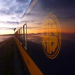 Sunset on the Alaska Railroad