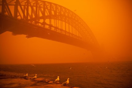 Red Dust on Sydney Harbour (Flickr Img Credit: miro b)