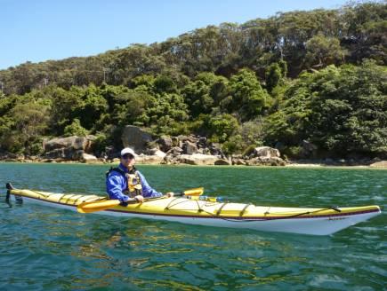 Shannon paddles a Boréal Design Alvik - Chinamans Beach