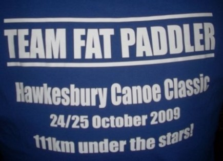 Team Fat Paddler tshirt back