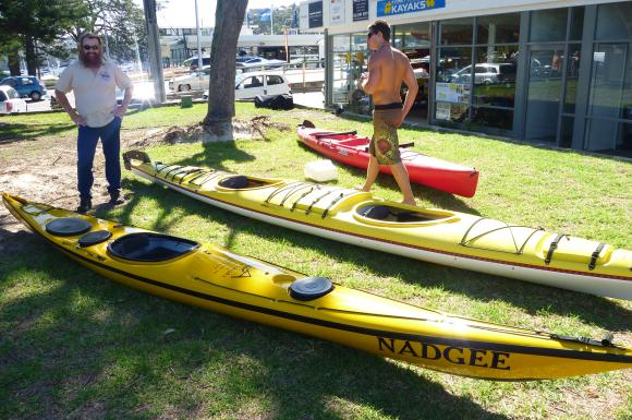 Lawrence (top left) with a Nadgee Solo Kayak