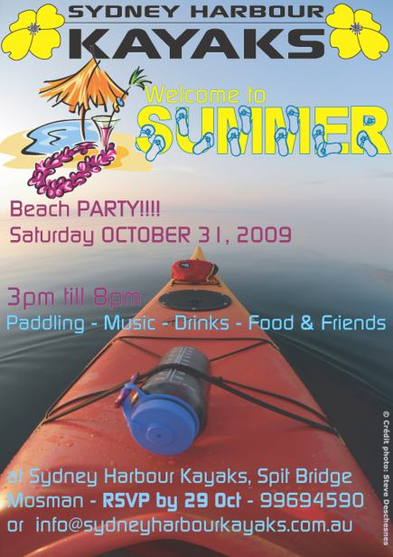 Summer Launch Party with Sydney Harbour Kayaks