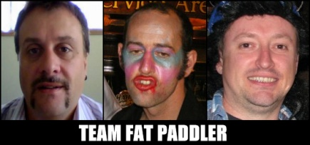 Team Fat Paddler - Darryl, Burnsie, Grummett