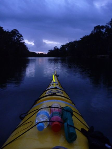Heading off into the sunset - Wyong River, NSW Central Coast
