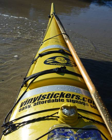 Kayak, compass, paddle, water, GPS... check. Let's ride!