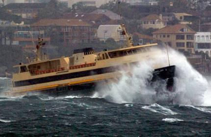 Manly Ferry - a few hundred tonnes of kayak-smashing potential!