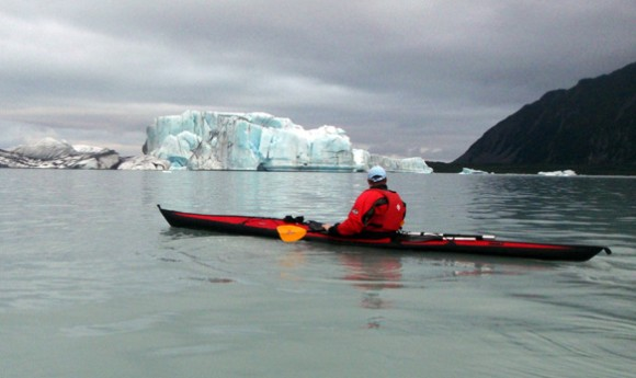 The Lake on Bear Glacier - big floaty ice bits!