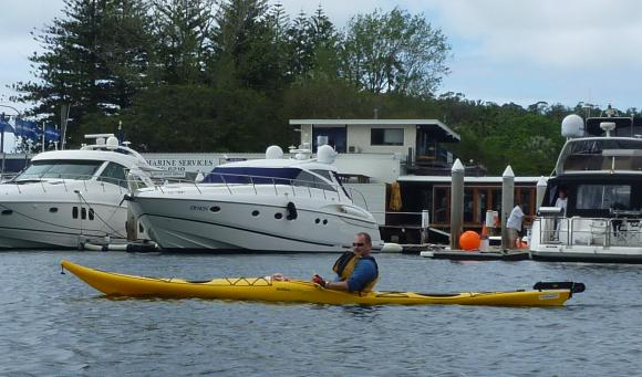 J-Dogg cruising past the marina at The Spit