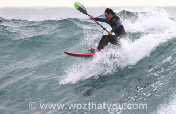 Paddler take off! (Image Credit: www.wozthatyou.com )