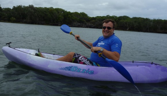 Big bad Darro (as Gracie calls him) enjoying a leisurely paddle