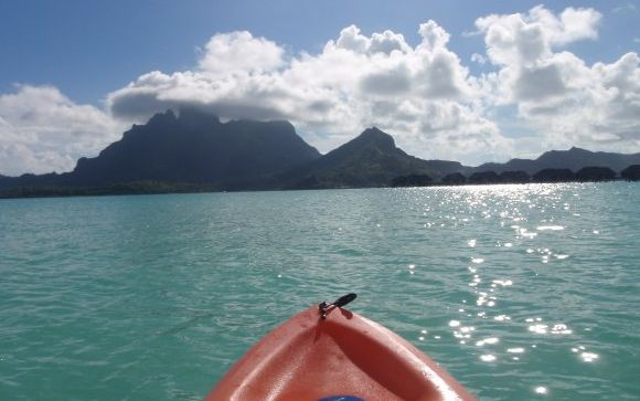 The view from Mark's kayak at Bora Bora