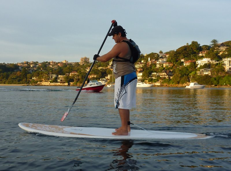 Rand on his SUP. It looks easier than it is!!