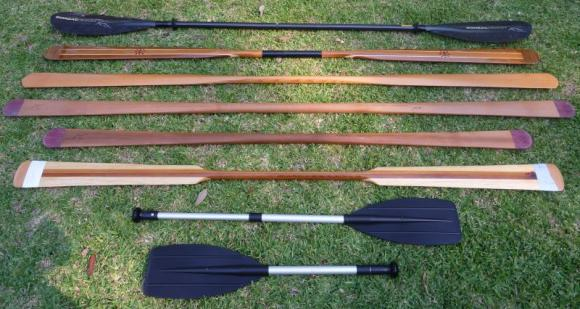 Comparisons: GPs, a Euro, kiddie canoe paddles