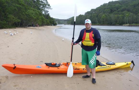 The beginning - a fat bloke with his first kayak