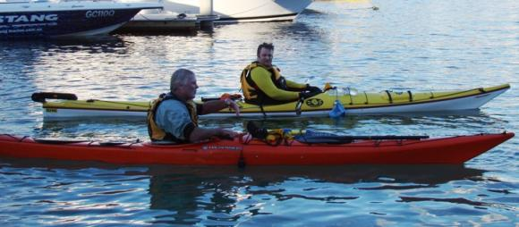 Sea Kayak course with Old Salty. Strokes, exits, safety and rescues.